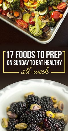 Healthy Meals No joke - food prep is challenging! Here are 17 Foods to Prep on Sunday so you can eat healthy all week! - One hour of food prep on Sunday = healthy eating so easy you don't even think about it. Healthy Cooking, Healthy Snacks, Cooking Recipes, Healthy Recipes, Eat Healthy, Eating Healthy On A Budget For One, Healthy Weekend Meals, Delicious Recipes, Cooking Kale