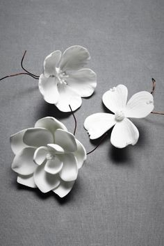 Porcelain Blooms at BHLDN.  You could easily make something like this from cold porcelain or even polymer clay
