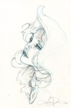 Emma Frost Comic Art
