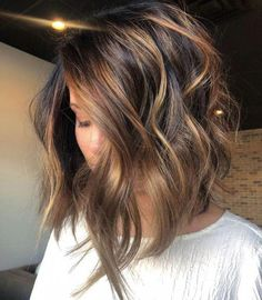 35 Balayage Hair Color Ideas for Brunettes in 2019 35 Balayage Hair Color Ideas for Brunettes in The French hair coloring technique: Balayage. These 35 balayage hair color ideas for brunettes in 2019 allow to achieve a more natural and modern eff…, Inverted Bob Hairstyles, Long Face Hairstyles, Layered Hairstyles, Hairstyles 2018, Bob Hairstyles Brunette, 2018 Haircuts, Brunette Haircut, Brown Hairstyles, Long Brunette