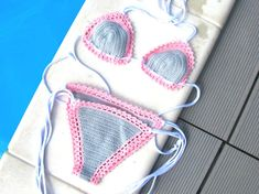 Crochet bikini set Lace crochet bikini Lace bikini by SweetForHome