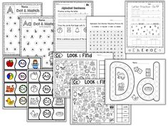 Alphabet Free Activities - Classroom Freebies