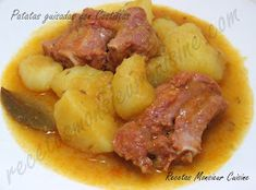 Recetas Monsieur Cuisine: Patatas guisadas con Costillas Pork, Beef, Chicken, Salads, Recipes With Potatoes, Legumes, Meals, Kale Stir Fry, Meat