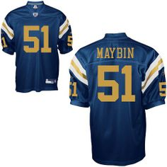 nfl new york jets 51 aaron maybin authentic blue men jersey