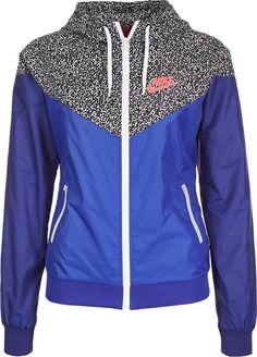 Nike Windrunner AOP W windbreaker blue purple