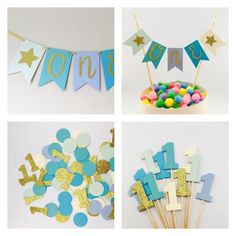 A personal favourite from my Etsy shop https://www.etsy.com/uk/listing/510647198/boys-first-birthday-party-kit-cake