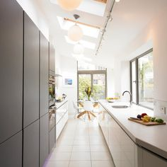 Contemporary Kitchen By Cream U0026 Black Interior Design. Contemporary Hallway Kitchen ContemporaryInvestment HouseKitchen SmallBlack InteriorsVictorian  Terrace ...