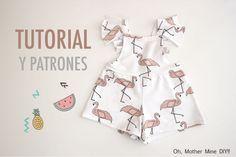 DIY Costura y patrones mono de flamencos (ropa para niños) | | Oh, Mother Mine DIY!!