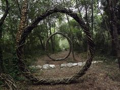 In an extraordinary act of devotion to his art, sculptural artist Spencer Byles spent a year creating beautiful sculptures out of natural and found materials throughout the unmanaged forests of La Colle Sur Loup (where he lived with his family), Villeneuve Loubet and Mougins. The only way you'll see these work short of his photos is by going into the woods and finding them yourself.