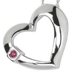 ELLE OPEN HEART 925 WITH GENUINE RUBY NECKLACE Gorgeous designer sterling silver open heart with genuine ruby pendant by ELLE jewelry! Original price was $150! Pendant is almost 1 inch by 1 inch. Elle Jewelry Necklaces
