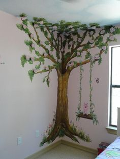 "Children Tree Bedroom provided by Artistic Mural Works   ""San Antonio Murals and Faux Finishes"" San Antonio 78258"