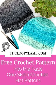 Make this beautiful gender-neutral hat with this free one skein crochet hat pattern by The Loopy Lamb. Using a single skein of Chroma Twist yarn, this hat has a beautiful ombre fade that'll have you standing out this winter. #crochethateasy #easycrochethat #freehatcrochetpatterns #crochetbeaniepattern #funcrochethats