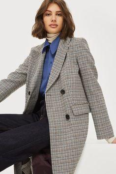 Checked Editors Crombie Coat