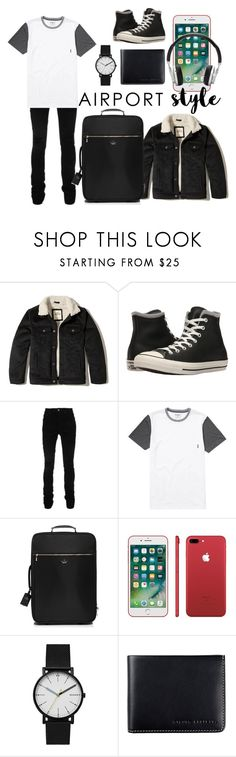 """""""airport"""" by cocochocolet ❤ liked on Polyvore featuring Hollister Co., Converse, AMIRI, Billabong, Kate Spade, Skagen, Status Anxiety, Master & Dynamic, men's fashion and menswear"""