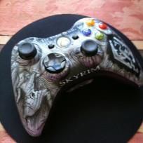 XBOX 360 After Glow controller with Glowing Cannabis ...