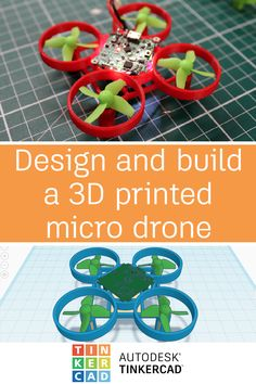 Tinkercad allows you to design and print your own micro drone chassis as well as plan out your drone component placement before you even print it. 3d Printer Designs, 3d Printer Projects, 3d Projects, Useful 3d Prints, Micro Drone, 3d Printing Diy, 3d Printed Objects, 3d Cnc, 3d Printable Models