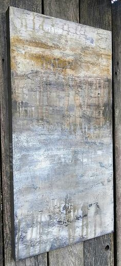 Textured Original Abstract Landscape Painting Neutral Modern