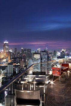Scan Bangkok's skyline from the rooftop lounge on the 32nd floor. Sofitel Bangkok Sukhumvit (Bangkok, Thailand) - Jetsetter