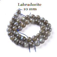 1 Enfilade de Perles Rondes Hématite Noir 10mm Diamètre