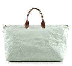 celery leather weekender by clare vivier ::Roztayger :: Designer Handbags & Accessories