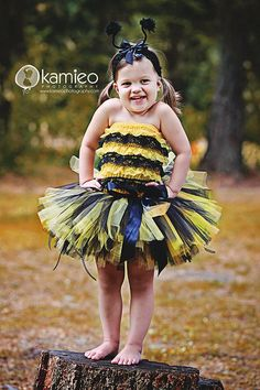 AHH MY GOSH! And now we have the yellow and black romper with the headband and wings, so I should totally make a matching tutu!