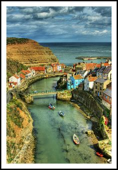 Staithes, a seaside village in North Yorkshire