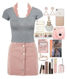 """""""I'm addicted to the show blue bloods"""" by cassieq6929 ❤ liked on Polyvore featuring Charlotte Russe, Topshop, Estradeur, Laura Mercier, Sydney Evan, Smith & Cult, Lapcos, Essie, Kate Spade and Jennifer Behr"""