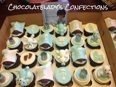 Baby shower cupcakes for Prince Jeremiah