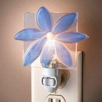 Blue flower decorative night light by J. Devlin.