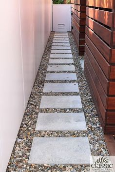 Colored Pebbles and Concrete Pavers