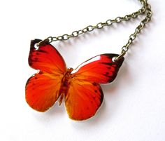 butterfly necklace - shrink plastic