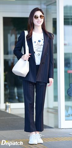 Airport Fashion, Airport Style, Korean Style, Korean Girl, Seo Ji Hye, Korean Actresses, These Girls, Girl Crushes, Asian Woman