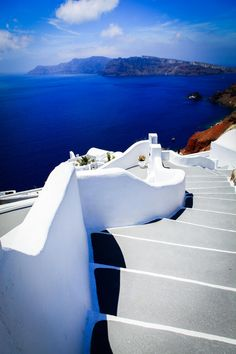 White Steps to Blue, Oia, Santorini