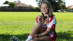 A blind girl thriving at Little Athletics SA