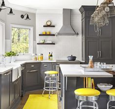 An open layout and added seating and storage ensure kitchen space for every member of this growing family.