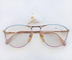9e2273b7b0e 80s womens eyeglasses   Vintage deadstock pastel frames   hipster enamel  aqua pale pink nos sunglasses   flat top bridge Eyewear Made Italy