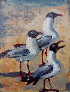 "Daily Paintworks - ""Threefer"" - Original Fine Art for Sale - © Rick Nilson"