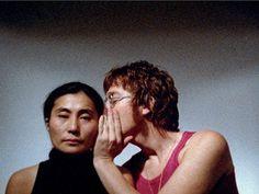 Yoko Ono archive photos: Yoko Ono's artwork Whisper Piece, with John Lennon (1971)