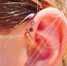 100+ Cool Forward Triple Helix Piercings Ideas