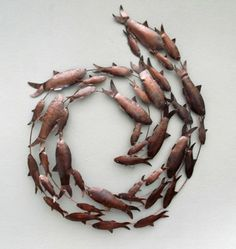 Metal Wall Art Fish metal fish wall art - not on the high street - great for my