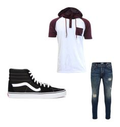 """""""Men's Outfits"""" by lexidonovan on Polyvore featuring Only & Sons, Vans, men's fashion and menswear"""