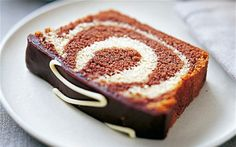 The ultimate marble cake from the Queen of baking, Mary Berry, with layers of   chocolate and vanilla sponge