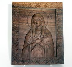 Religious gift Virgin Mary religious icon Wood carving, black walnut wood , home decor Religious Icons, Religious Gifts, Virgin Mary, Walnut Wood, Wood Carving, Unique Jewelry, Handmade Gifts, Painting, Etsy