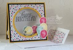 Debbie's Designs: Yay, A Video! shaker card with double acetate