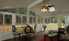 All Season Patio Room with sky lights House Inside, My House, Champion Sunrooms, Side Yards, Front Yards, Yard Crashers, Radiant Floor, Smart Home Technology, Traditional Landscape