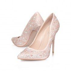 Carvela Kankan Studded T Bar Court Shoes Pink And Online