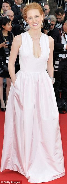 Jessica Chastain at the screening of Moonrise Kingdom by Wes Anderson in Cannes