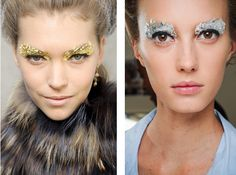 Fendi SS12 make up is all about extravagant gold foil and ivory skin