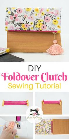 Learn how to sew a super stylish folder clutch with this sewing tutorial!