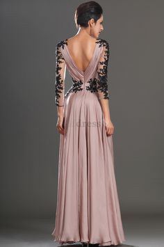 Silhouette: A-LineMaterial:Satin, LaceHemline: Floor-LengthNeckline: V-NeckSleeve Length:Long SleeveBack Details: ZipperBody Shape: All Sizes<p>This dress could be custom made, there are no extr..